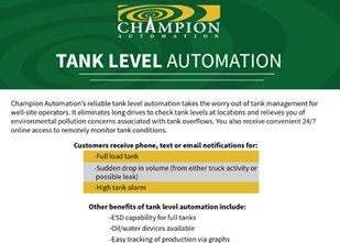 Tank Level Automation